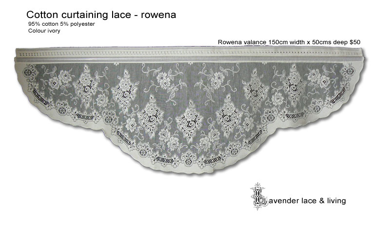 Lavender Lace and Living, Cotton Curtaining Lace - Rowena